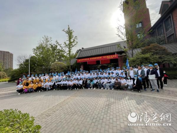 灞桥区红旗街道中心校2021年春季 快乐健步走活动