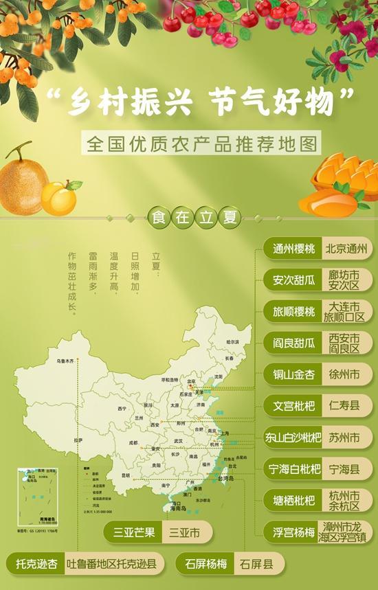 初夏赐予的见面礼!全国优质农产品推荐地图来了 这些鲜味别错过